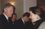 President Bill Clinton meets Nancy Snow