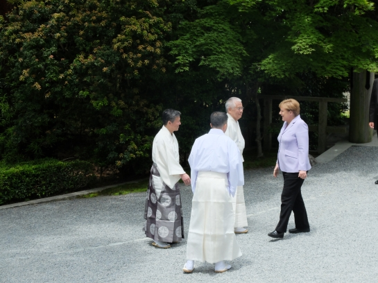 Angela Merkel at Ise Jingu