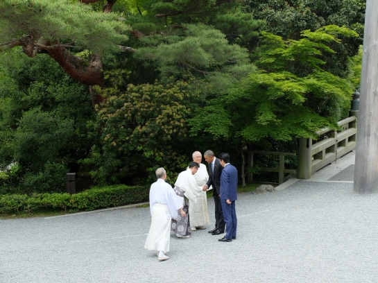 Obama and Abe at Ise Jingu